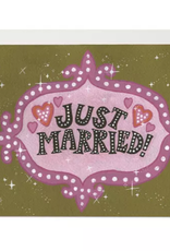 Red Cap Cards Just Married Vegas Style Greeting Card