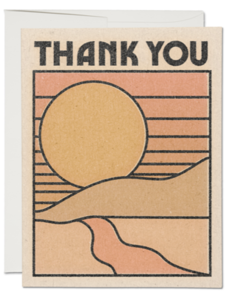 Red Cap Cards Thank You Sunset Greeting Card