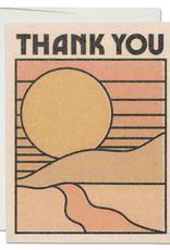 Thank You Sunset Greeting Card Box Set of 8