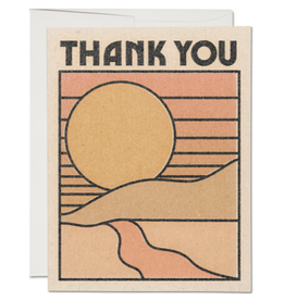 Red Cap Cards Thank You Sunset Greeting Card Box Set of 8