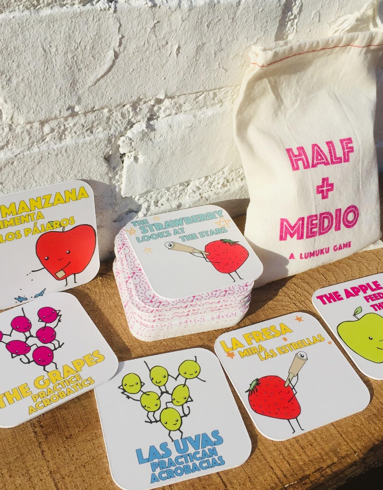 Lumuku Half + Medio Bilingual Matching Game