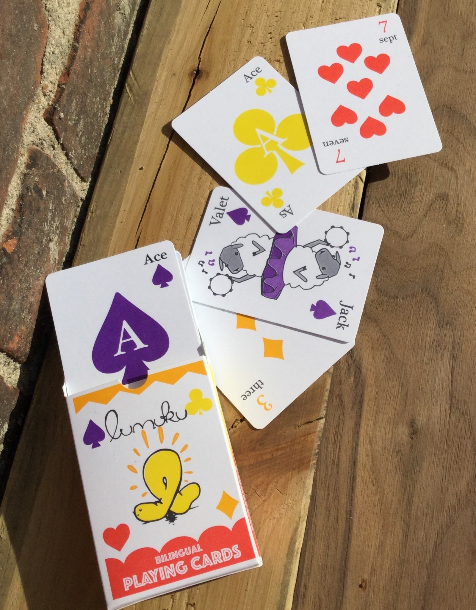 Bilingual Playing Cards