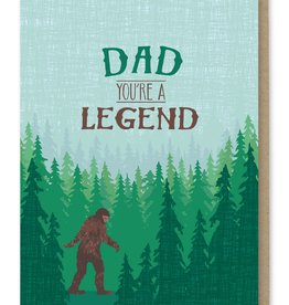 Modern Printed Matter Dad You're a Legend (Big Foot) Greeting Card