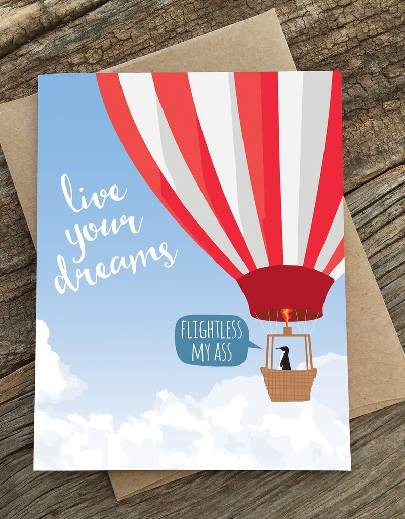 Modern Printed Matter Live Your Dreams Greeting Card