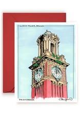 Maryann Fenton Brown Clock Tower Greeting Card