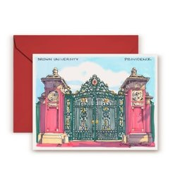 Maryann Fenton Brown's Gate Greeting Card
