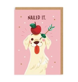 Ohh Deer Nailed It Dog & Arrow Greeting Card