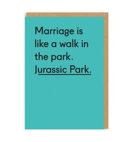 Ohh Deer Marriage is a Walk in Jurassic Park Greeting Card