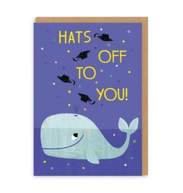Ohh Deer Hats Off to You! Whale Grad Greeting Card