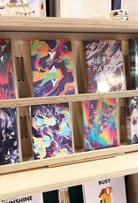 Ohh Deer Yay Marbled Rainbow Greeting Card