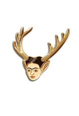 The Found Frida Deer Head Enamel Pin
