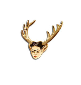 The Found Frida Deer Head Enamel Pin