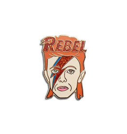 The Found David Bowie Rebel Enamel Pin