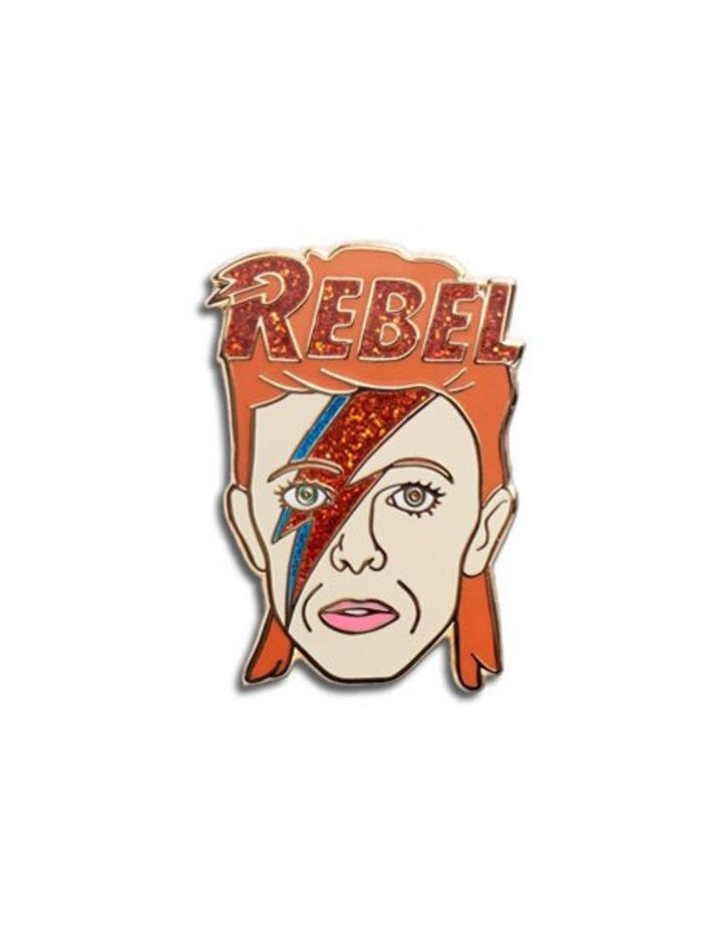 The Found David Bowie Rebel Enamel Pin