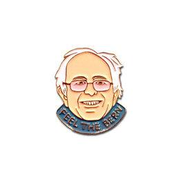 Feel The Bern Bernie Sanders Enamel Pin