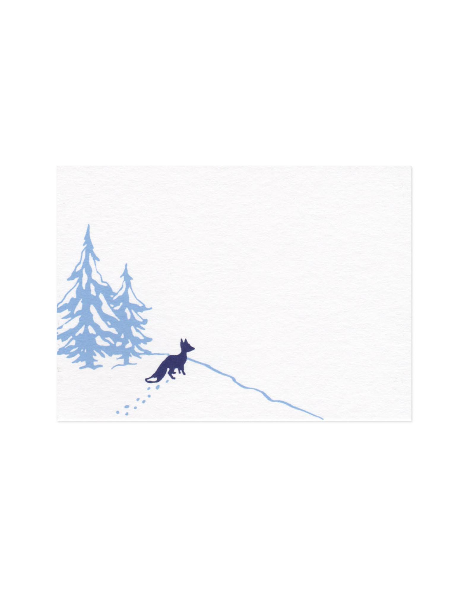 Snow Fox Mini Card Set of 10