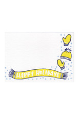 Frog & Toad Press Happy Holidays Mini Card Set of 10