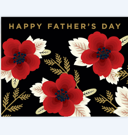 Clap Clap Designs Wildflowers Happy Father's Day Greeting Card