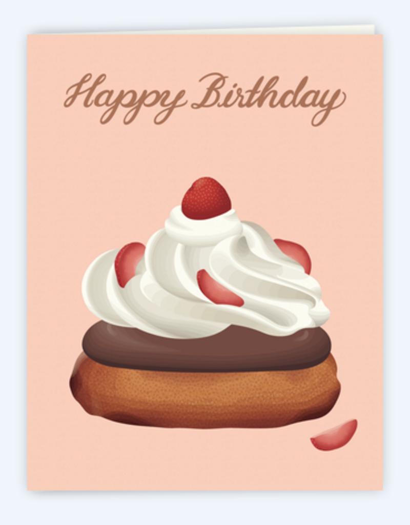 Clap Clap Designs Happy Birthday Strawberry Shortcake Greeting Card