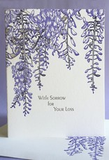 With Sorrow for Your Loss (Wisteria) Greeting Card