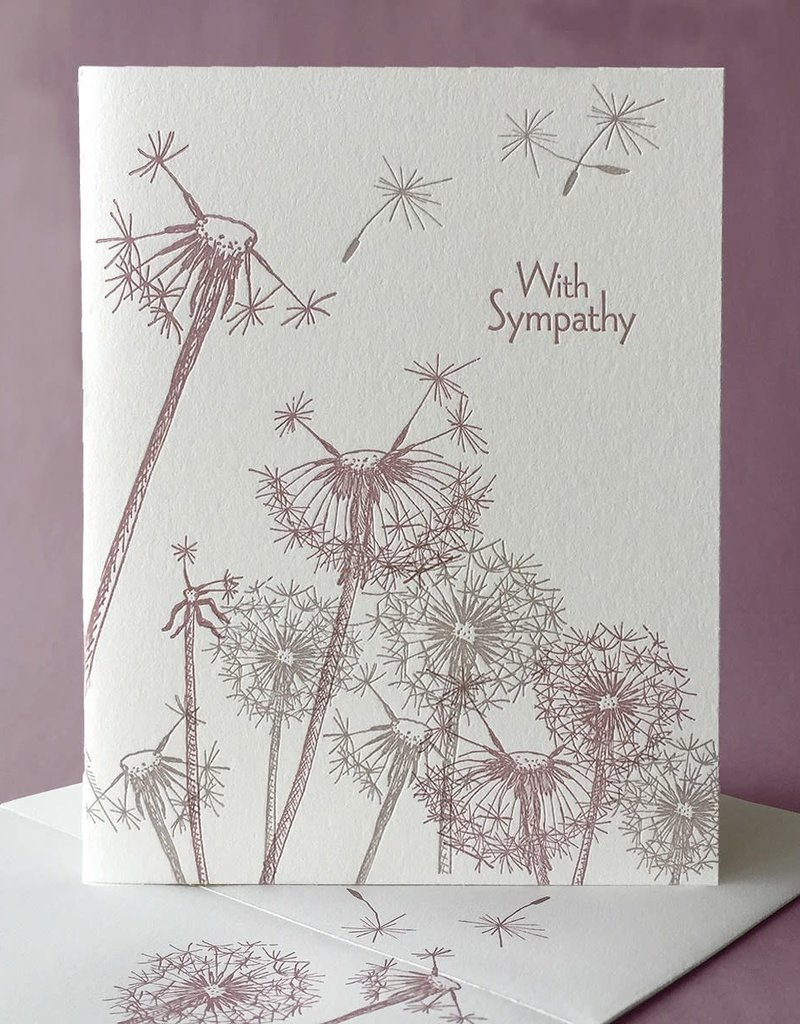 Painted Tongue Studios With Sympathy (Dandelions) Greeting Card