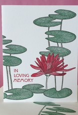 Painted Tongue Studios In Loving Memory (Lilly Pads) Greeting Card
