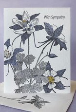 Painted Tongue Studios With Sympathy (Columbine) Greeting Card