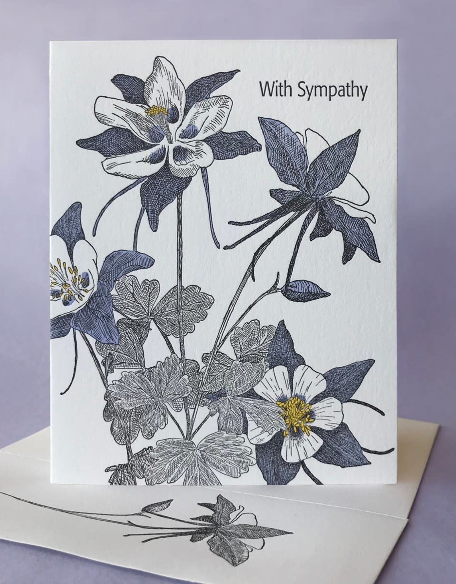 With Sympathy (Columbine) Greeting Card