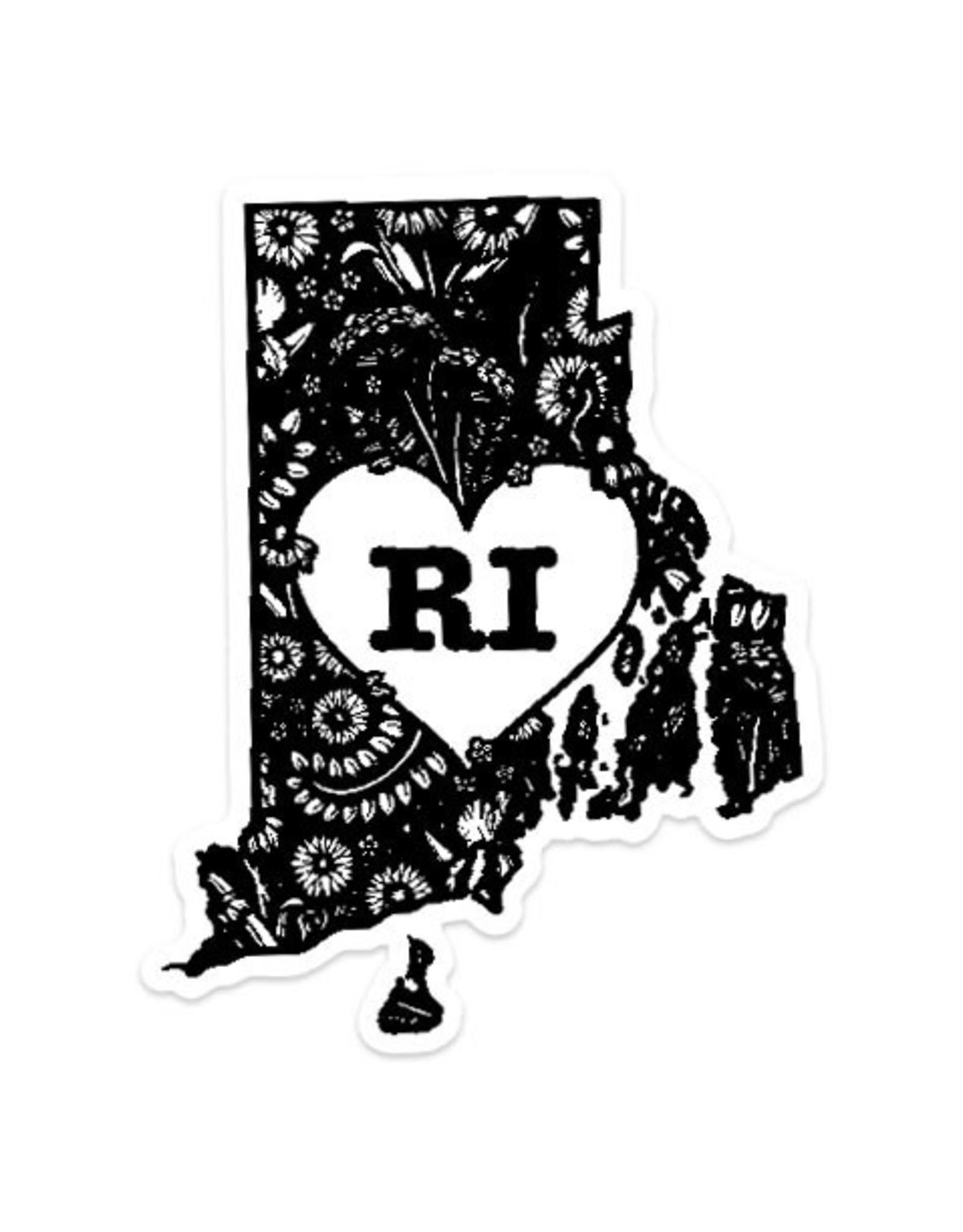 RI Heart Sticker
