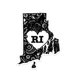 RI Heart Sticker