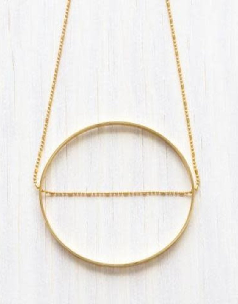 A Mano Trading Modern Circle Necklace
