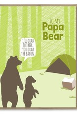 Modern Printed Matter Papa Bear Camping Greeting Card