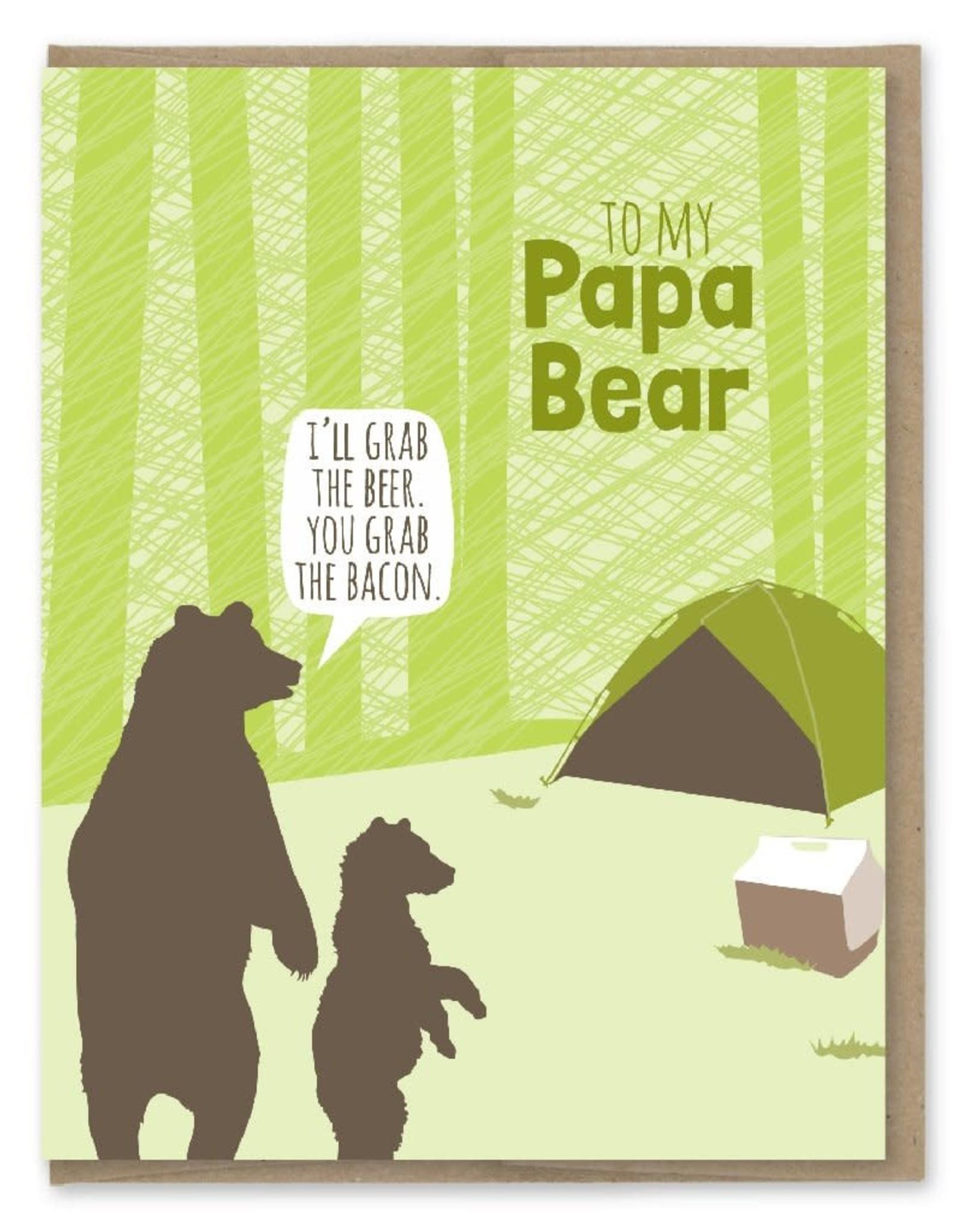 Modern Printed Matter Papa Bear Camping Greeting Card