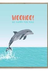 WooHoo! Dolphin Greeting Card