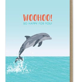 Modern Printed Matter WooHoo! Dolphin Greeting Card