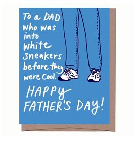 La Familia Green The White Sneakers Father's Day Greeting Card