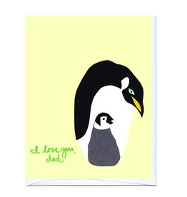 La Familia Green I Love You, Dad Penguins Greeting Card
