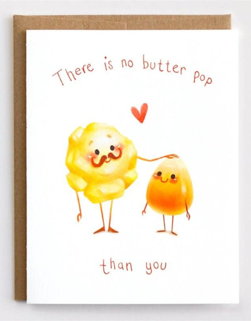 Mudsplash Studios No Butter Pop Greeting Card