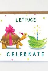 Mudsplash Studios Lettuce Celebrate Greeting Card