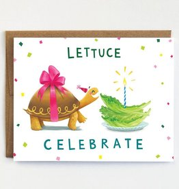 Mudsplash Studios Lettuce Celebrate Greeting Card