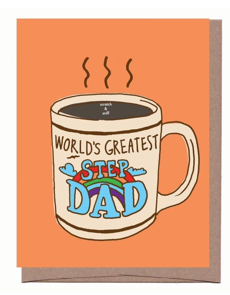 La Familia Green World's Greatest Step Dad (scratch & sniff) Greeting Card