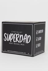 Super Dad Checklist Heat Reveal Mug