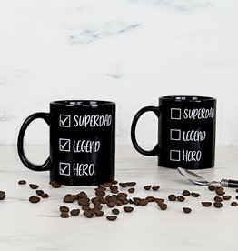 Super Dad Checklist Heat Reveal Mug