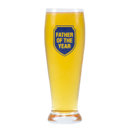 Hello World Father Of The Year Pilsner Glass