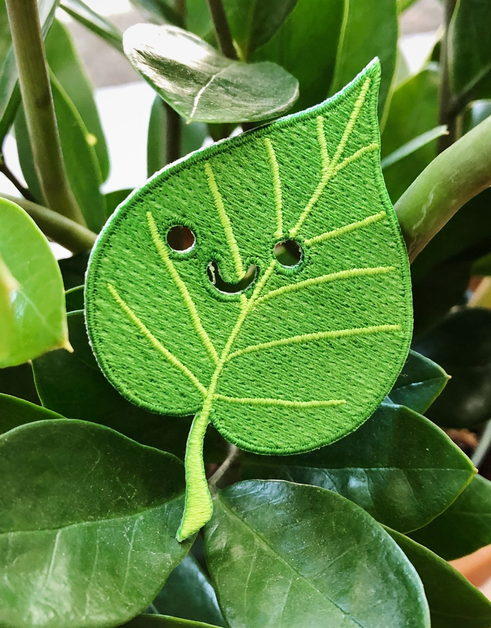 Smiley Leaf Patch