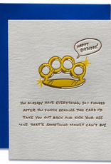Ladyfingers Letterpress Kick Your Ass For Your Birthday Greeting Card