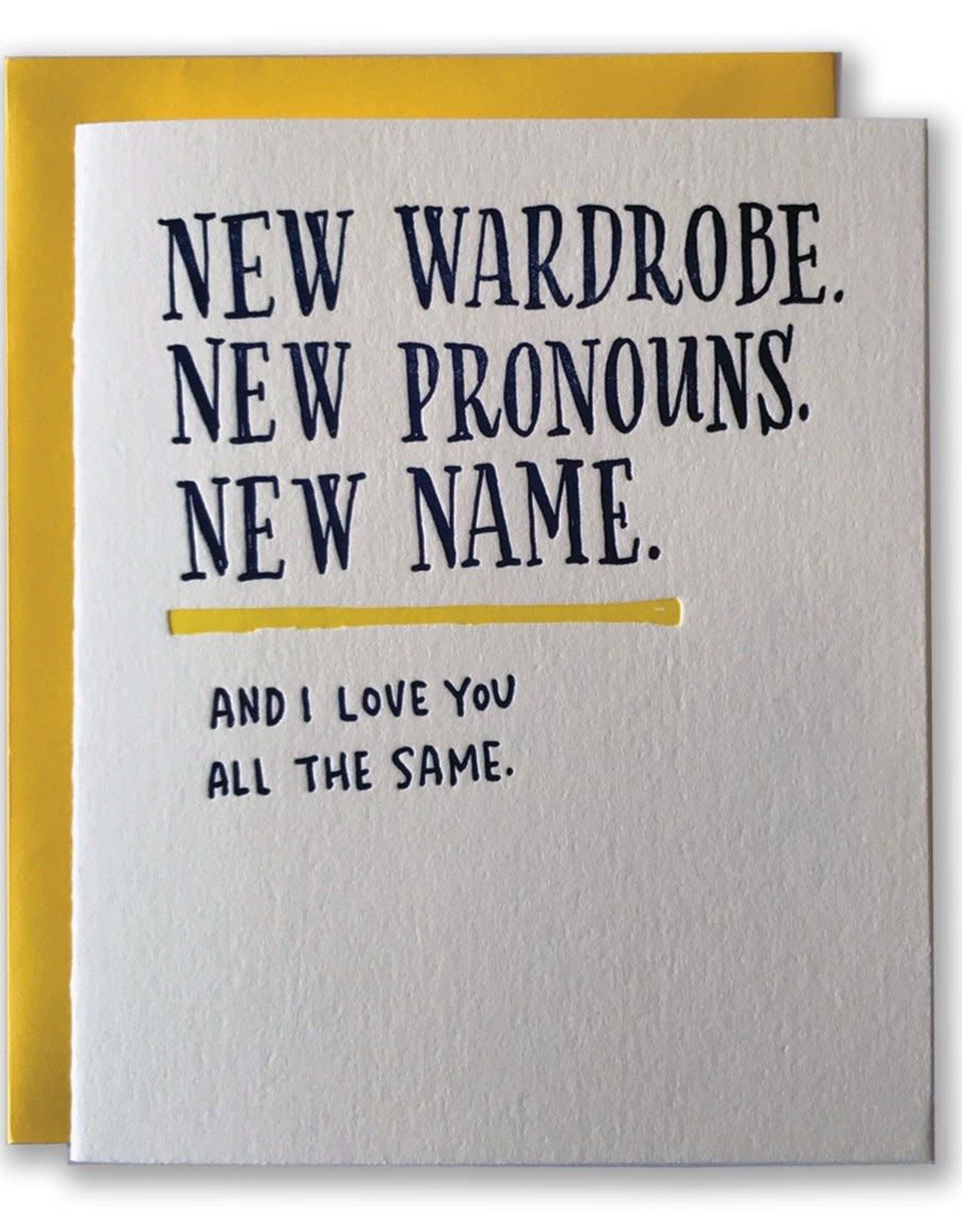 New Wardrobe, Pronouns, Name Greeting Card
