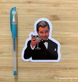 YeaOh Greetings Leonardo DiCaprio Sticker