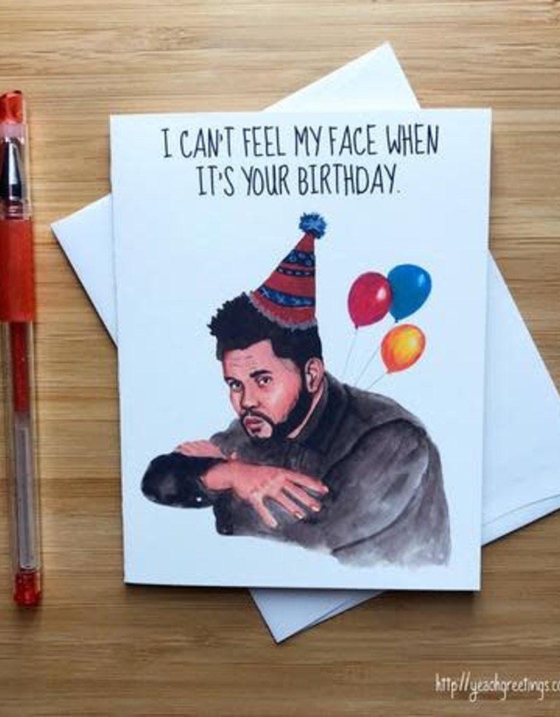 YeaOh Greetings The Weeknd Birthday Greeting Card