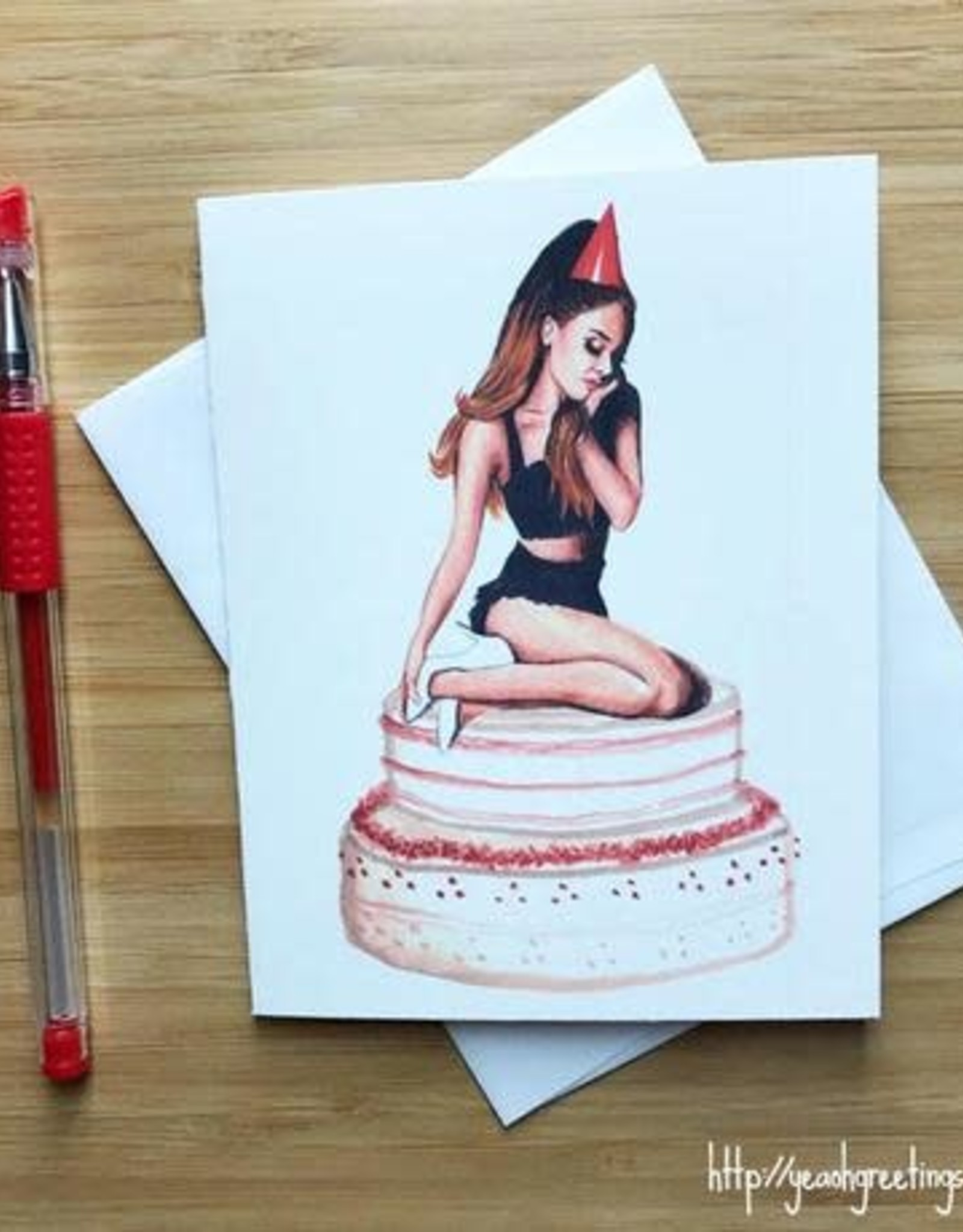 Ariana Grande Birthday Greeting Card